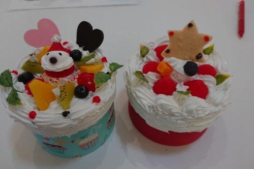 食品サンプル デコケーキ